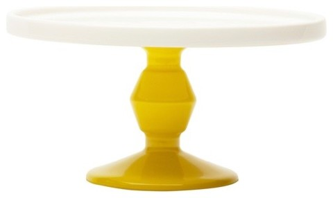 Small Yellow Cake Stand dessert-and-cake-stands