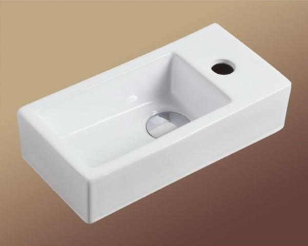 Lille small ceramic basin above counter basin for Designer bathroom sinks basins