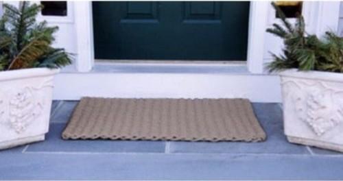 Cape Cod Taupe Doormat contemporary-doormats