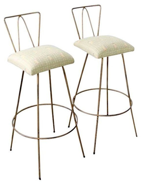 Mid Century Gold Bar Stools Set of 2 Modern Bar  : modern bar stools and counter stools from www.houzz.com size 492 x 640 jpeg 40kB