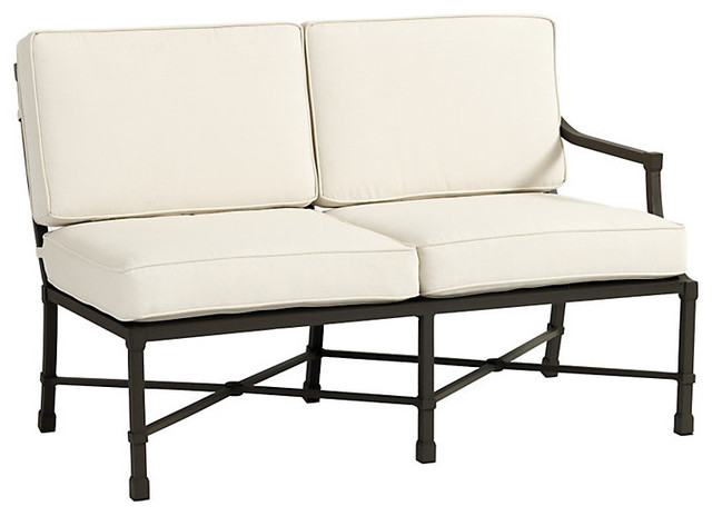 Suzanne Kasler Directoire Right Arm Loveseat traditional-outdoor-sofas