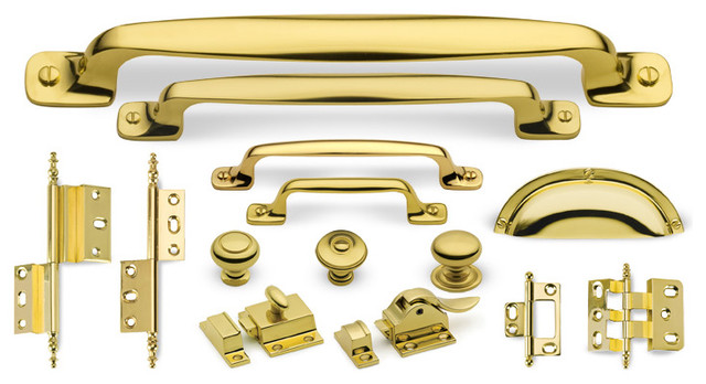 Artisan Suite cabinet hardware collection in Polished Brass traditional-home-improvement