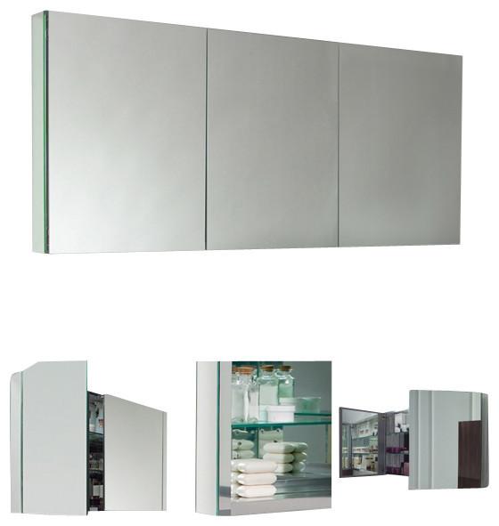 Fresca Fmc8010 40 Inches Wide Bathroom Medicine Cabinet With Mirrors Mirror 60 Modern