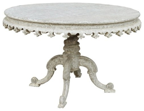 RION Furniture - Fest Table in White Weathered - GTAB433WW traditional-side-tables-and-end-tables