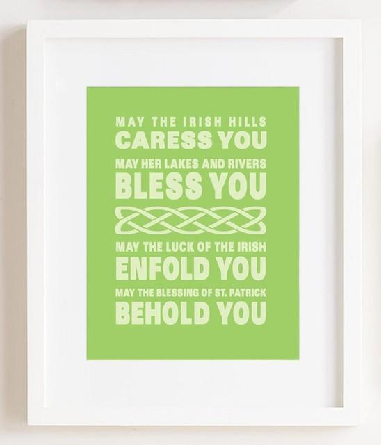 Irish Blessing Print by Julie Kim Design modern-artwork