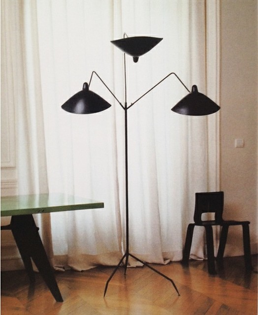 floor lamp 3 arm by serge mouille lighting modern floor lamps by. Black Bedroom Furniture Sets. Home Design Ideas