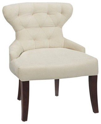 Curves Hourglass Chair, Oyster contemporary-living-room-chairs
