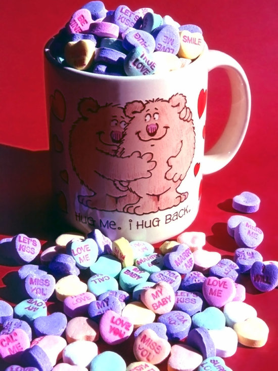 Valentine Candy Hearts Still Life -