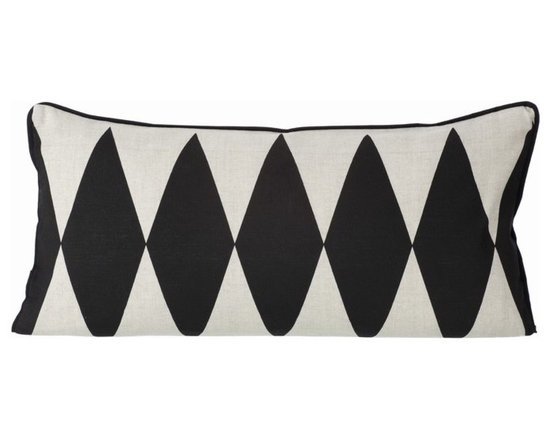 Ferm Living Black Harlequin Pillow - Graphic pillows, like this harlequin design, look great on their own or bunched up in a grouping.