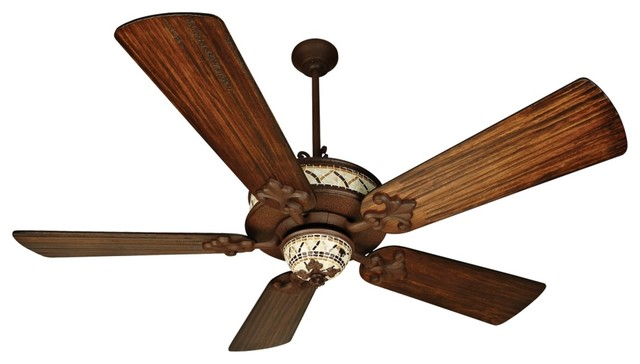 "Traditional 54"" Craftmade San Miguel Rust Iron Wet Rated Ceiling Fan traditional-ceiling-fans"