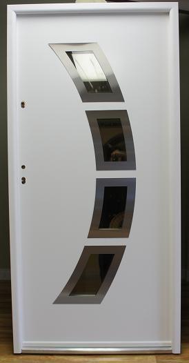 Miami Modern Metal PVC Exterior Door Contemporary Front Doors