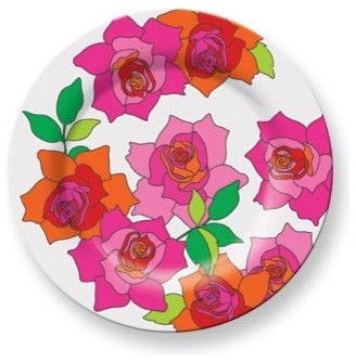 Rose Plate contemporary dinnerware