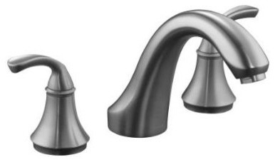 KOHLER K-T10278-4-G Forte Bath-or Deck-Mount Rim Valve Trim contemporary-bathroom-faucets