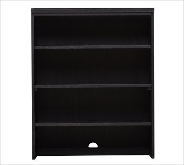 Printer's Double Bookcase Hutch, Artisanal Black stain - Traditional - Bookcases - by Pottery Barn