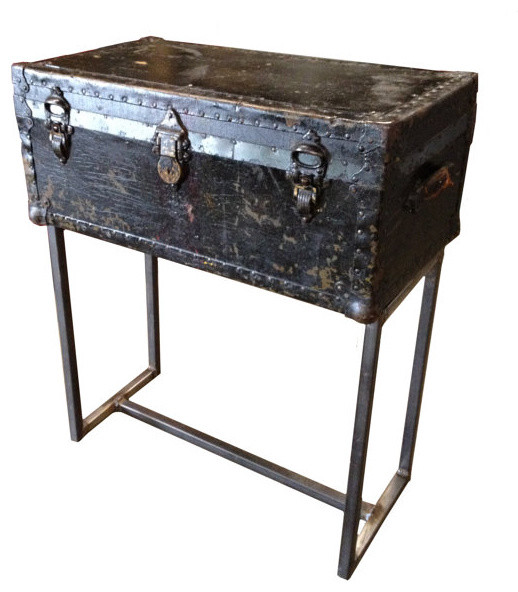 Custom Steamer Trunk Console Table by PH Design Group eclectic side tables and accent tables
