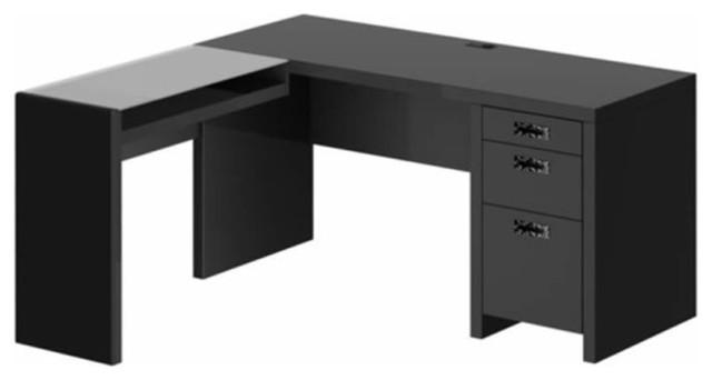 new york skyline l shape desk in modern mocha modern desks and hutches
