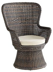 CoCo Cove Outdoor Swivel Chair eclectic outdoor chairs
