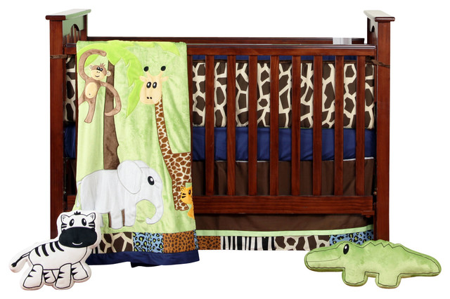 Jazzie Jungle Boy - Infant Set (4pc) contemporary-baby-bedding
