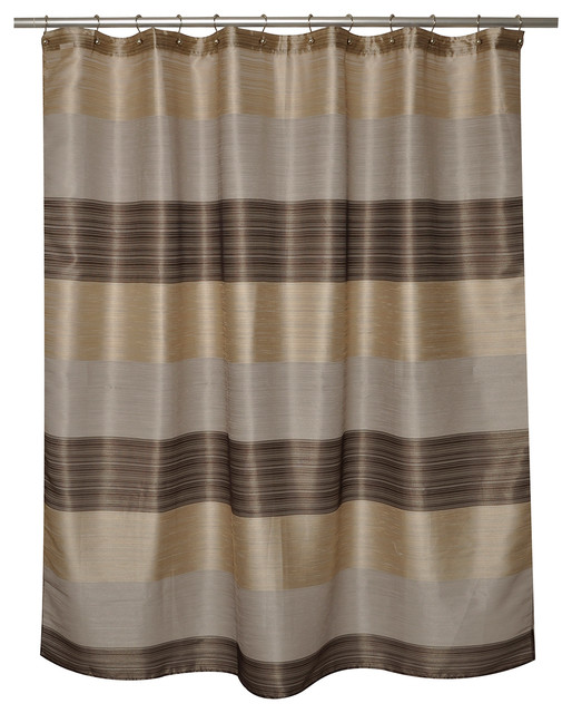 Alys bronze shower curtain contemporary shower for Bronze and silver bathroom accessories