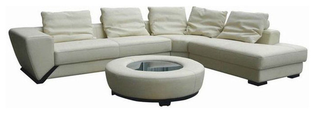 Luxurious All Real Leather Sectional contemporary-sectional-sofas