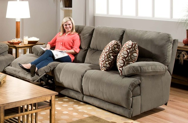 Catnapper - Riley Charcoal Reclining Sofa - 1221 transitional-sectional-sofas