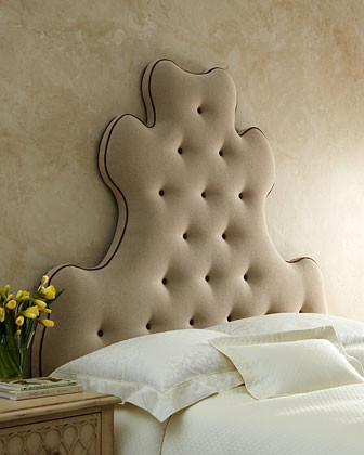 Old Hickory Tannery Linen Madam Headboard traditional headboards