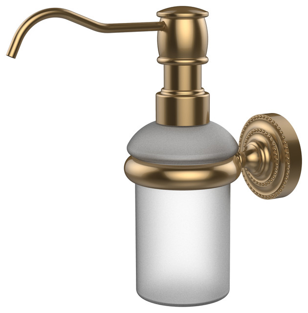 Wall Mounted Soap Dispenser Brushed Bronze Contemporary Soap Lotion Dispensers By
