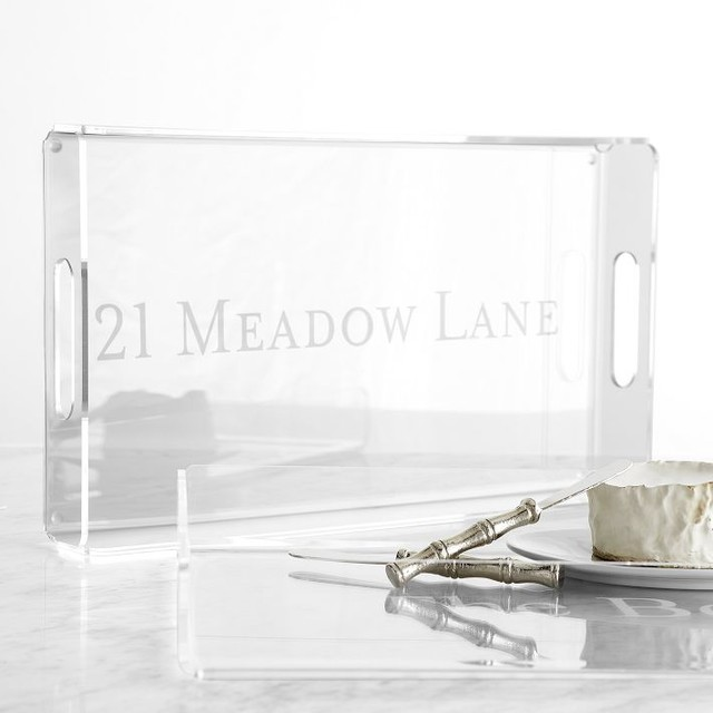 Acrylic Serving Tray - Modern - Serving Trays - by Mark and Graham
