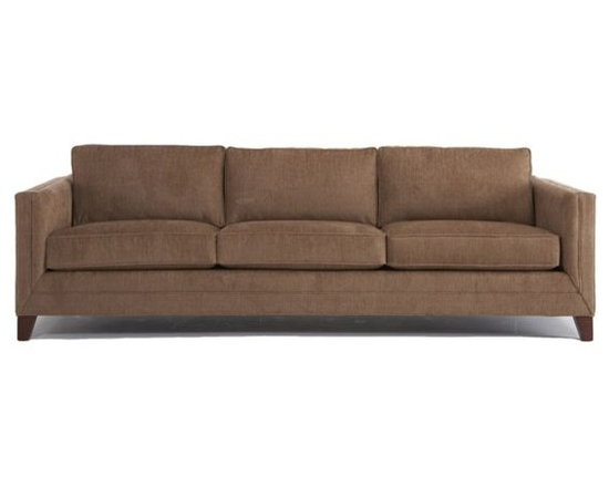 Reese Sofa - Our Reese sofa is an early 1950's inspired hardwood modern square-arm sofa featuring a double-welted border along the front rail, seat and arms. Additional refinements include mitered corners at each border intersection, in-arm padding providing extra comfort and low, deep, squared-off seating.