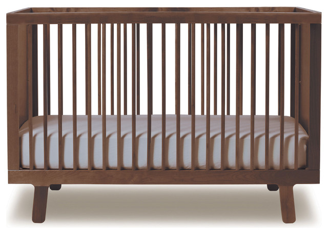 Oeuf Sparrow Crib Walnut Modern Cribs By All