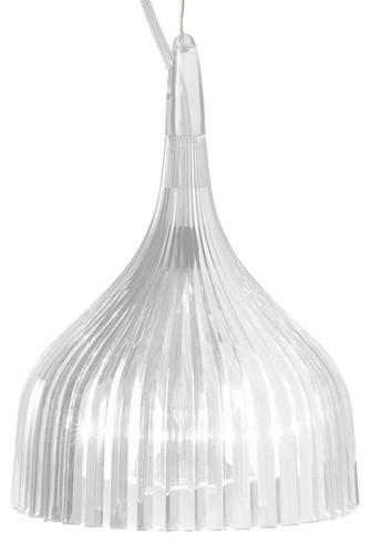 E Pendant Lamp, Transparent Crystal contemporary-pendant-lighting