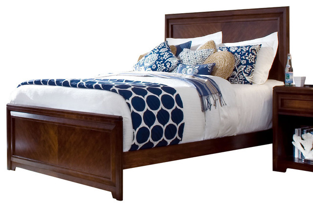 Lea Elite Expressions Panel Bed in Rootbeer Color - Twin traditional-kids-beds