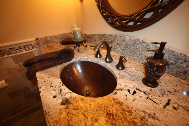 Hammered Copper Sink traditional