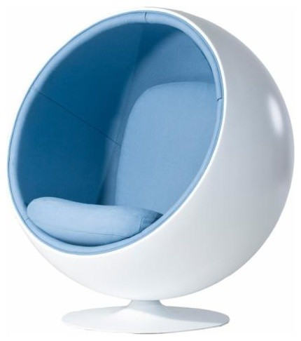 eero aarnio style ball chair in turquiose by rove concepts modern armchairs and accent. Black Bedroom Furniture Sets. Home Design Ideas
