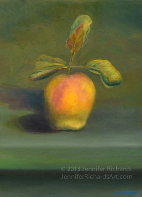 Home grown apple traditional-paintings