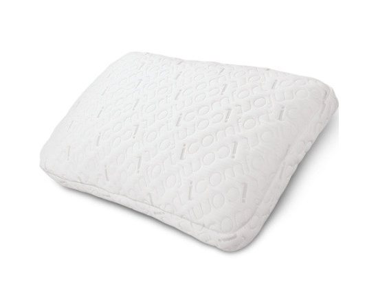 Serta - Serta iComfort Scrunch Pillow with Cool Action Gel Memory Foam Beads, King - Serta's iComfort Scrunch Pillow is filled with hundreds of Cool Action gel memory foam cushions, allowing you to fluff it up or bunch it together like a traditional down pillow, letting you choose your ideal level of pillow comfort. Unlike traditional down pillows, however, the iComfort Scrunch pillow is designed to hold its shape and support your head and neck while you sleep.