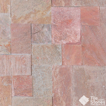 Copper Slate Mini Pattern Gauged contemporary floor tiles