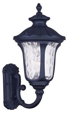 Livex Oxford 7852-04 1-Light Outdoor Wall Lantern in Black modern-outdoor-lighting