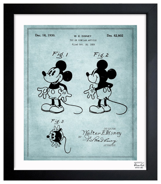 """''Mickey Mouse 1930' 10""""x12"""" Framed Art contemporary-prints-and-posters"""