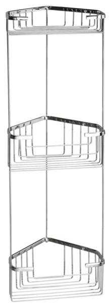 Wire Corner Triple Shower Basket contemporary-shower-caddies