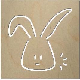 Spot On Square - George the Rabbit Wall Decor modern-artwork