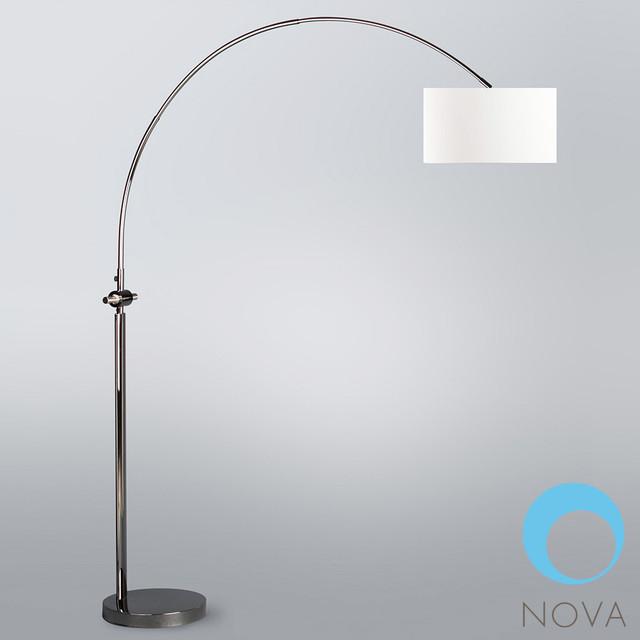 nova issey arc floor lamp modern floor lamps los. Black Bedroom Furniture Sets. Home Design Ideas