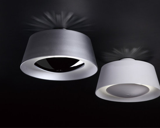 Industrial Chic - Drum Shade Semi-Flush Mount In Brushed Stainless Steel