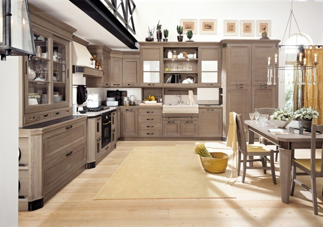 Modern kitchen cabinets contemporary-rendering