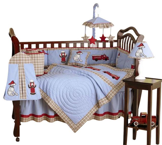 Fire Truck Crib Bedding : Frankie s fire truck piece crib bedding set