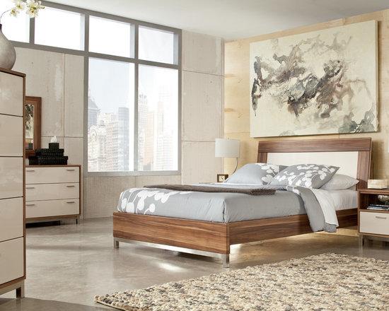 Bedrooms Furniture - Metro Modern Medium Brown Master Bedroom Set