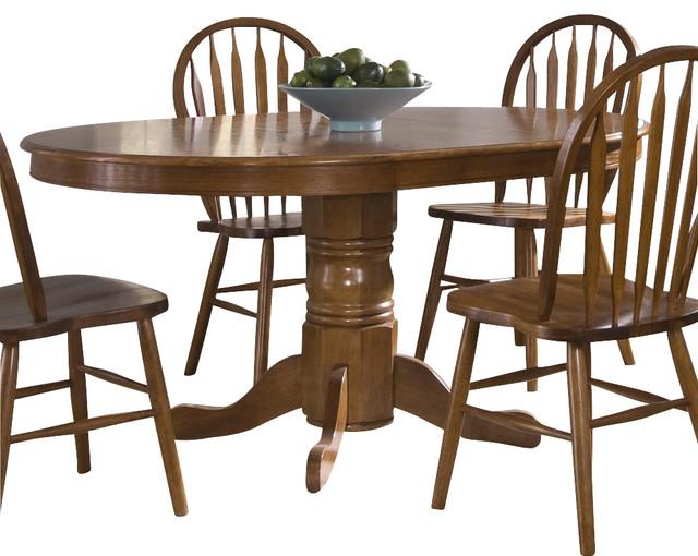 Liberty Furniture Nostalgia Traditional 60x42 Oval Dining Table in Oak traditional-dining-tables