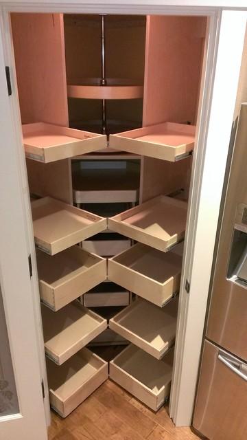 Corner Pantry Pull Out Shelves - atlanta - by ShelfGenie National
