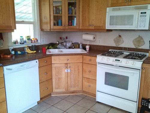 need granite suggestion to match honey maple cabinets and