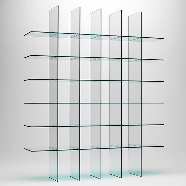 Modern Glass Shelf Bookshelf